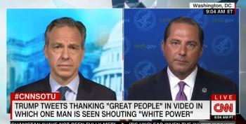 HHS Sec. Azar Refuses To Condemn Trump Retweet Of Supporters Shouting 'White Power!'