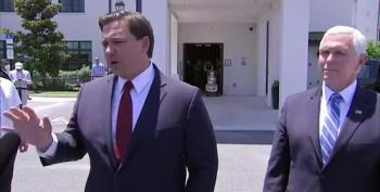 Florida Governor Ron DeSantis Defends His Administration's Actions To Reporters