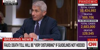 Fauci: Coronavirus Cases Could Reach 100,000 A Day In The U.S.