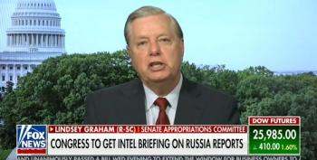 A Panicked Lindsey Graham Defends Trump As A 'Too Busy General'