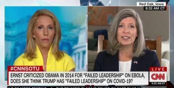 Joni Ernst Refuses To Criticize Trump For 'Failed Leadership' On Coronavirus