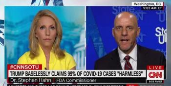 FDA Commissioner Refuses To Admit Trump Was Wrong For Saying 99% Of COVID Cases Are 'Harmless'