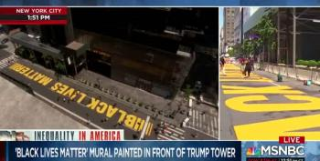 NYC Completes Black Lives Matter Mural In Front Of Trump Tower