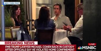 Michael Cohen Heading Back To Prison