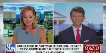 Sandra Smith Stops Trump 2020 Spokesman's Disgusting Innuendo