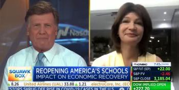 CNBC Host Cuts Off NEA President Criticizing Trump For Forcing School Reopening