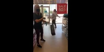 Woman Asked To Wear Mask;  Throws Shoes At Store Employee