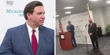 Ron DeSantis Heckled At Press Conference: 'You Are An Embarrassment!'