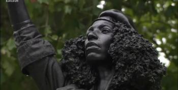 Statue Of SlaveTrader Edward Colston Replaced With Sculpture Of Black Lives Matter Protester