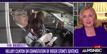 Hillary Clinton: Roger Stone's Sentence Was Commuted To 'Shut Him Up'