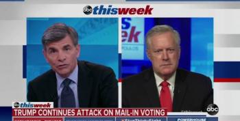 Mark Meadows Helps Trump Fearmonger Over Mail-In Voting