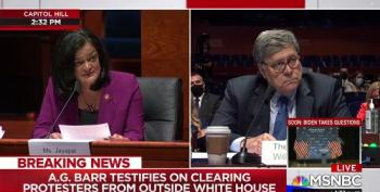 'I'm Starting To Lose My Temper': Rep. Jayapal Eviscerates Bill Barr