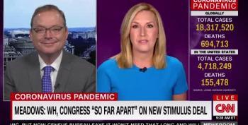 CNN's Poppy Harlow Corrects Trump Advisor's Lies About Unemployment Checks