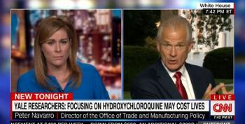 Peter Navarro Tells CNN Host To Watch Video From Dilbert Cartoonist To Defend Hydroxychloroquine Lies