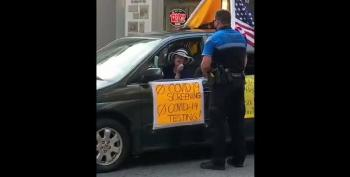 COVIDIOT Gets Upset When She Gets A Ticket