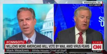 Jake Tapper To Mark Meadows: 'No Evidence Of Widespread Voter Fraud'