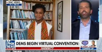 Hannity Brings On Trump Jr. To Talk Over DNC Speakers, Compare Biden To A Monkey