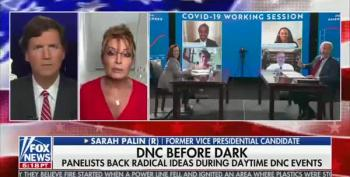 Tucker Rolls Out Sarah Palin To Say The Word 'Prostitute' About Kamala Harris