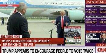 Trump Encourages People To Vote Twice
