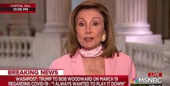 Speaker Nancy Pelosi Decimates Trump Over Woodward Book's Revelations