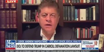 Judge Napolitano Criticizes Bill Barr For Taking Over Trump's Defamation Defense