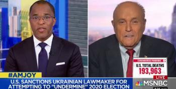 Rudy Giuliani Spews Soros, Mueller, And Biden Conspiracies On MSNBC