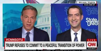 Tom Cotton Repeats GOP Fairy Tale That Clinton Told Biden To Never Concede Under Any Circumstances