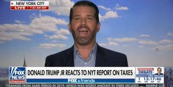 'Agitated' Don Jr. Throws Jell-o At The Wall As Dad's Taxes Made Public