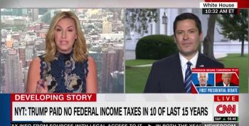 Poppy Harlow Refuses To Allow WH Spox To Lie About Trump's Taxes