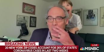 Dr. Redlener's Grandson Steals The Show On MSNBC