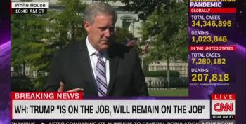 CNN's Jim Acosta Asks Mark Meadows 'Why Aren't You Wearing A Mask?'