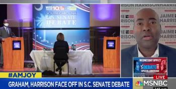 Jaime Harrison Debates Lindsey Graham From Behind His Own Plexiglass Shield