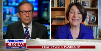 Amy Klobuchar Reminds Fox Viewers That COVID Is Not About Trump