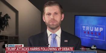 Eric Trump Attacks Joe Biden For Owning A 'Mansion On The Water' In Delaware When Asked About NYT Article On Trump Corruption