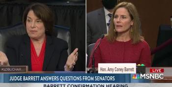 Amy Klobuchar 'Follows The Tracks' Right Back To Amy Coney Barrett's Lies