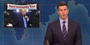 Colin Jost Whacks Trump's 'Herd Immunity Tour'