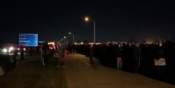 Thousands Of Trump Supporters Stuck At Freezing Omaha Airfield After Rally