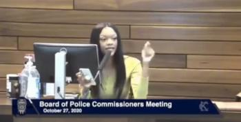 Young Black Woman Goes Off At Kansas City Board Of Police Commissioners Meeting