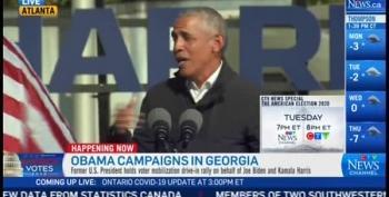 President Obama Rips Into Trump's 'COVID Spreader Tour'