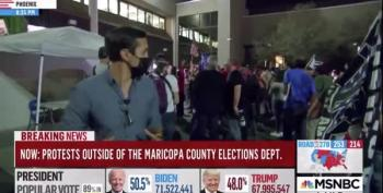 Pro-Trump Supporters Chant 'Fox News Sucks!' In Arizona