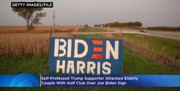 Trump Supporter Attacks Elderly Couple Over Biden Yard Sign