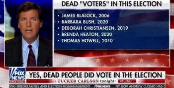 Tucker Carlson Sees Dead People