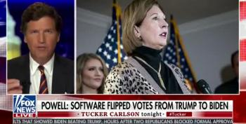 Tucker Carlson Calls Out Sydney Powell's Claims Of Voter Fraud For No Evidence