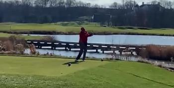 Donald Trump Hits Golf Ball In The Water And Screams, 'I Hate This F***ing Hole!!!'