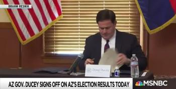 Arizona Governor Ducey Ignores Trump's Phone Call Trump While Certifying Election Results