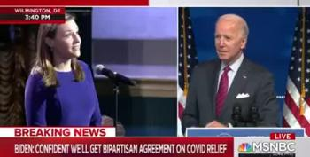 Joe Biden Answers Question About Working With Republicans