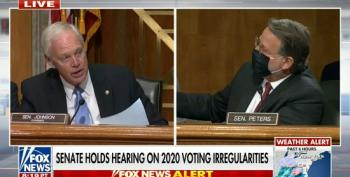 At His Phony 'Election Fraud' Hearing, Agitated Ron Johnson Screams At Dem Colleague