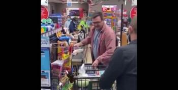 Watch As Man Attacks Store Manager With A Shopping Cart After Being Asked To Wear A Mask