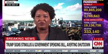 Stacey Abrams Says Those Pandemic Checks Won't Turn The GA Runoff Election