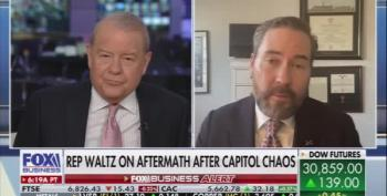 Stuart Varney Yells At Republican Congressman For Refusing To Denounce Trump's Role In Riot